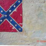 "Item No. 52 Official Confederate Flag (White Field) 24"" x 36"" Original Painting $2,500 Prints $450 each"