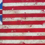 Official Early U.S. Flag Original Painting SOLD