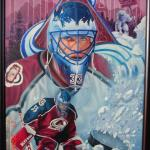 "Item No. 45 Patrick Roy Goalie, Colorado Avalanche Stanley Cup Winner 24""x36"" Framed Original Prints Available"