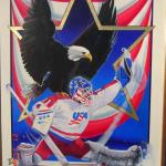 "Item No. 43 USA Hockey 24"" x 36"" Original Painting Framed  Prints Available"